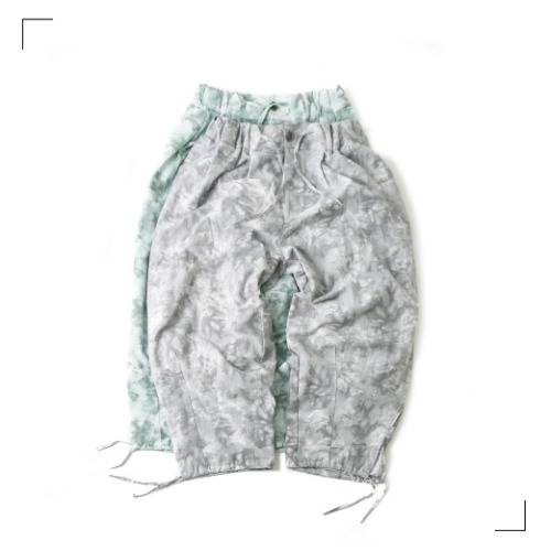 TIE-DYE Trim Balloon Pants - 2color [ Last 4 pcs ]