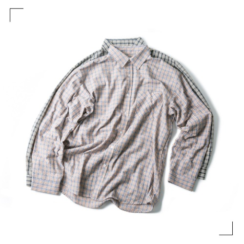 Two Tone Check Shirts - 2color [ 리오더 진행 중 ]