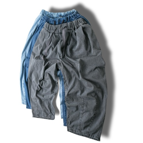 Denim Balloon Pants - 3color