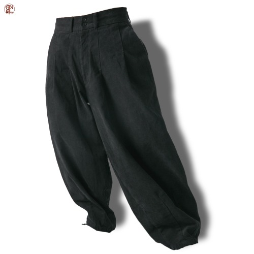 EASY BALLOON PANTS - Black