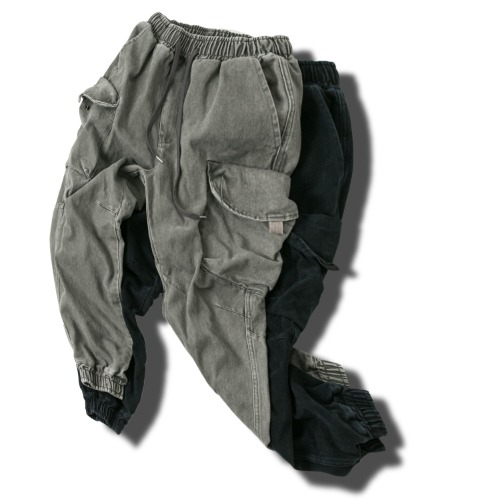 Washing Cargo Jogger Pants - 2color