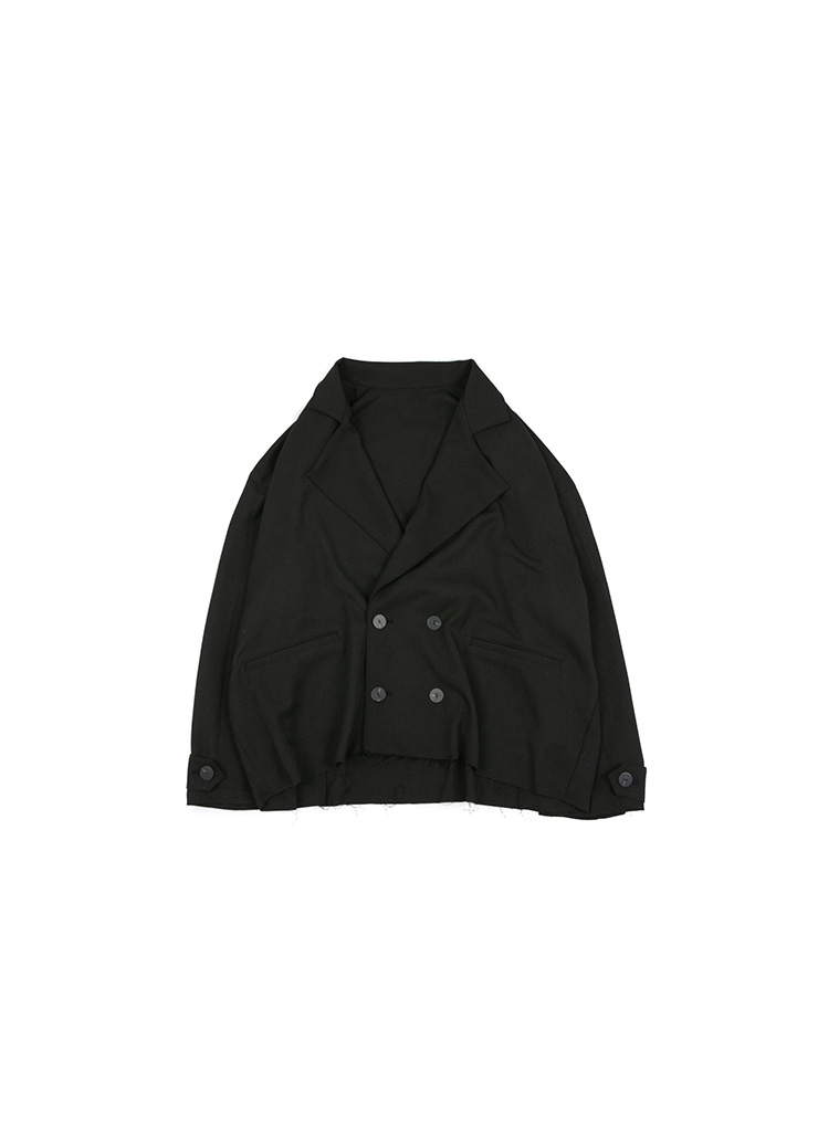 Cutting Double Jacket - Black