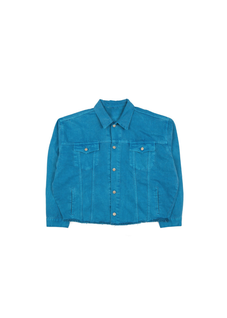 Dyeing Washing Jacket - Blue