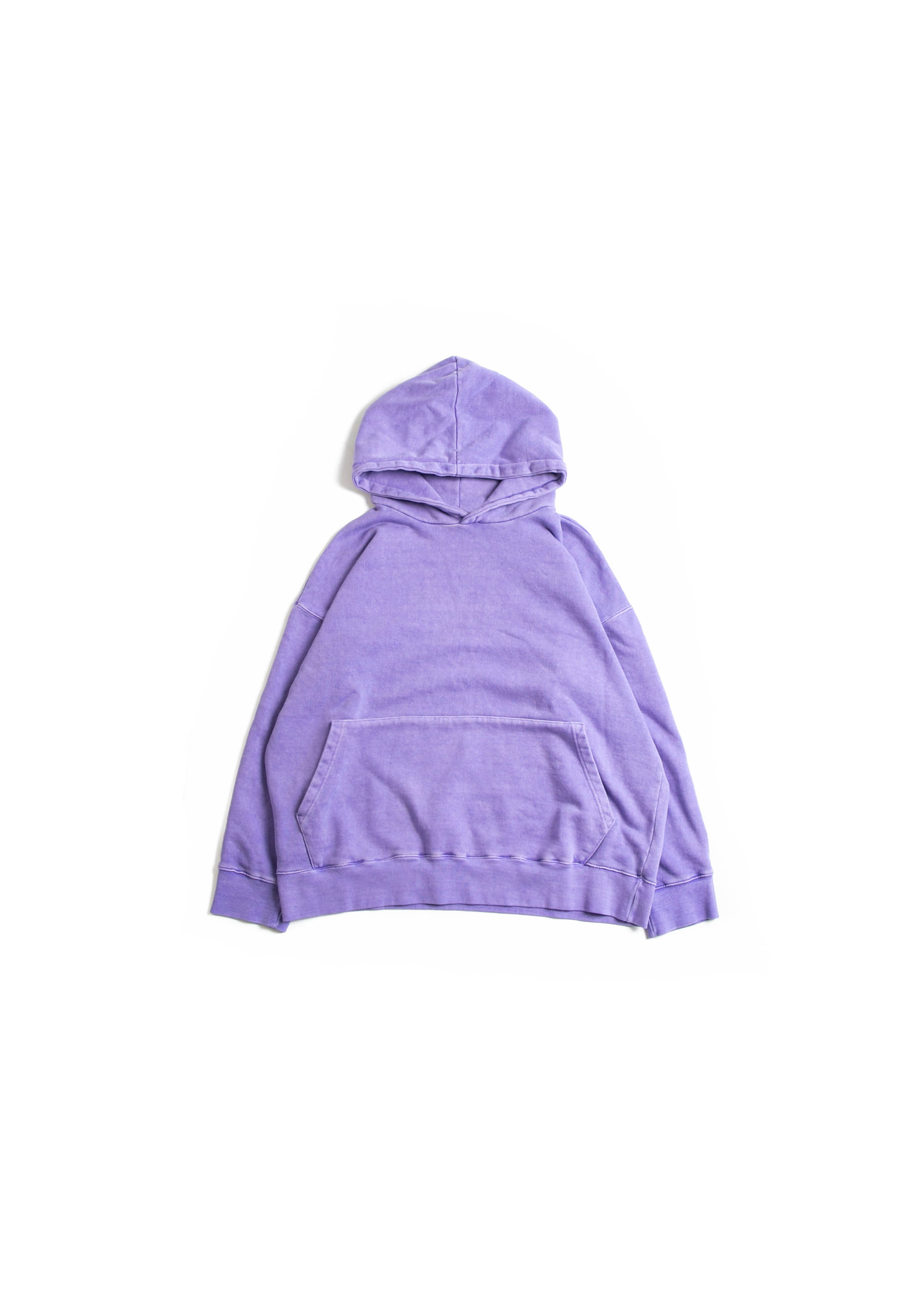 Dyeing Washing Over Hoodie - Purple