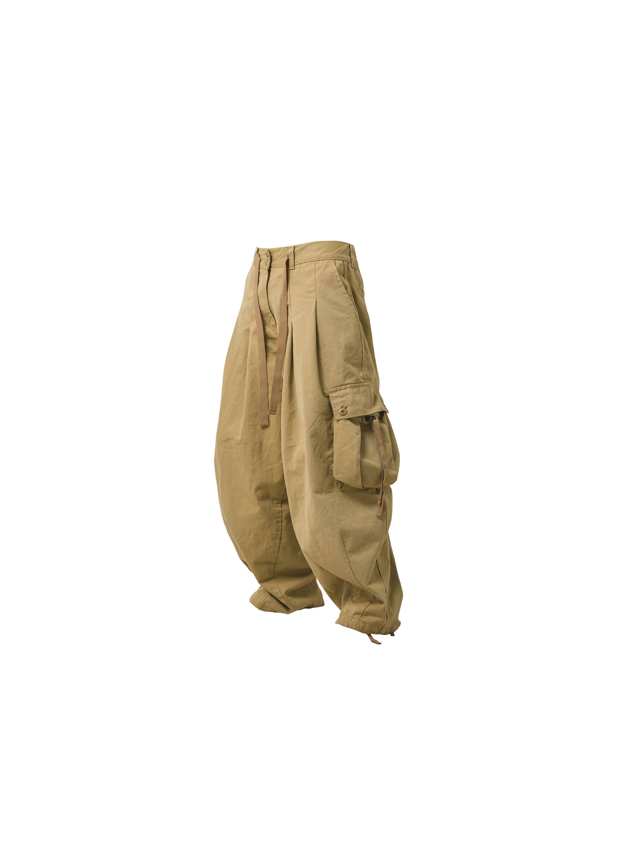 [AG] Cargo Easy Balloon Pants - Beige
