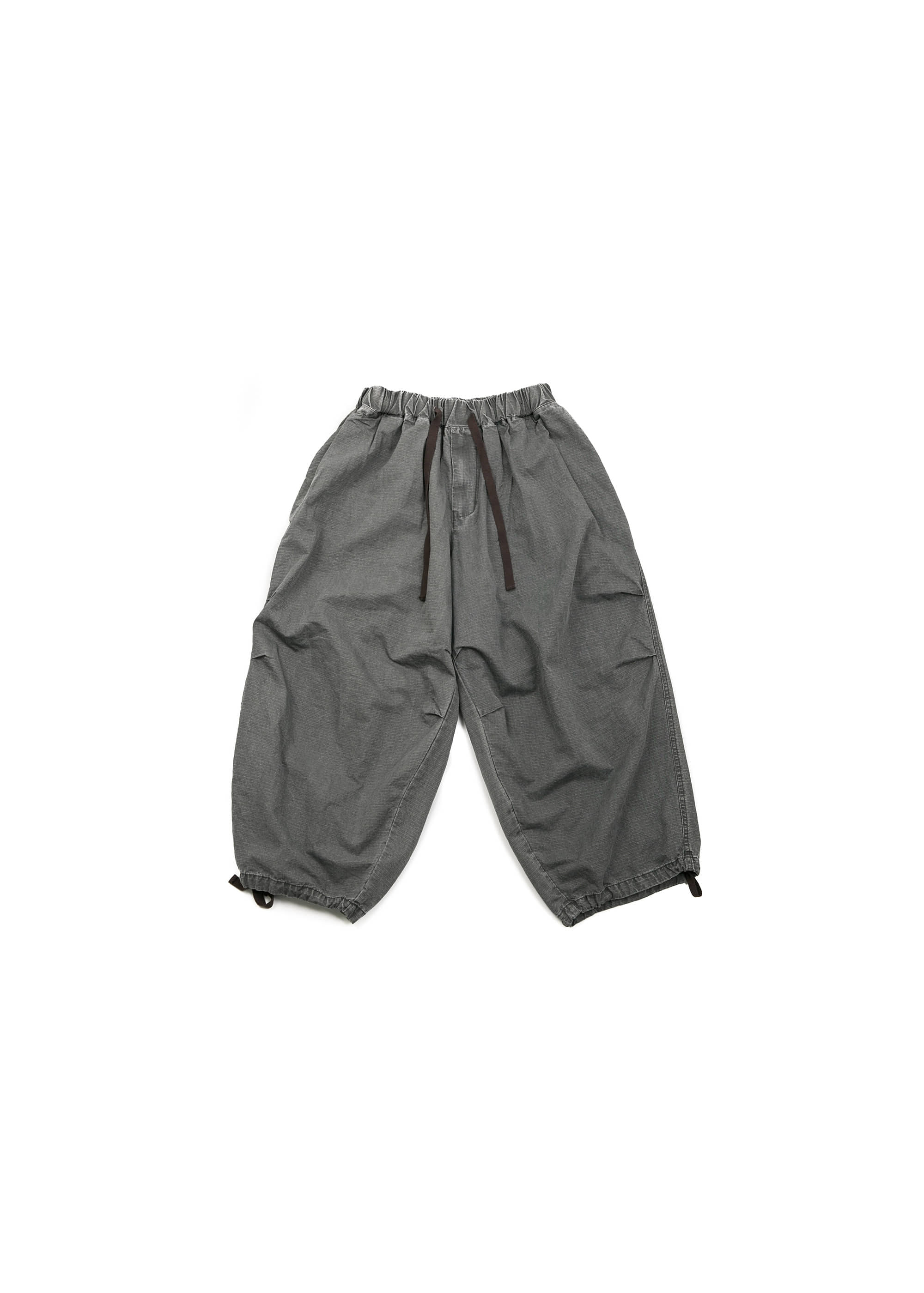 Rib Army Balloon Pants - Grey [ RE ]