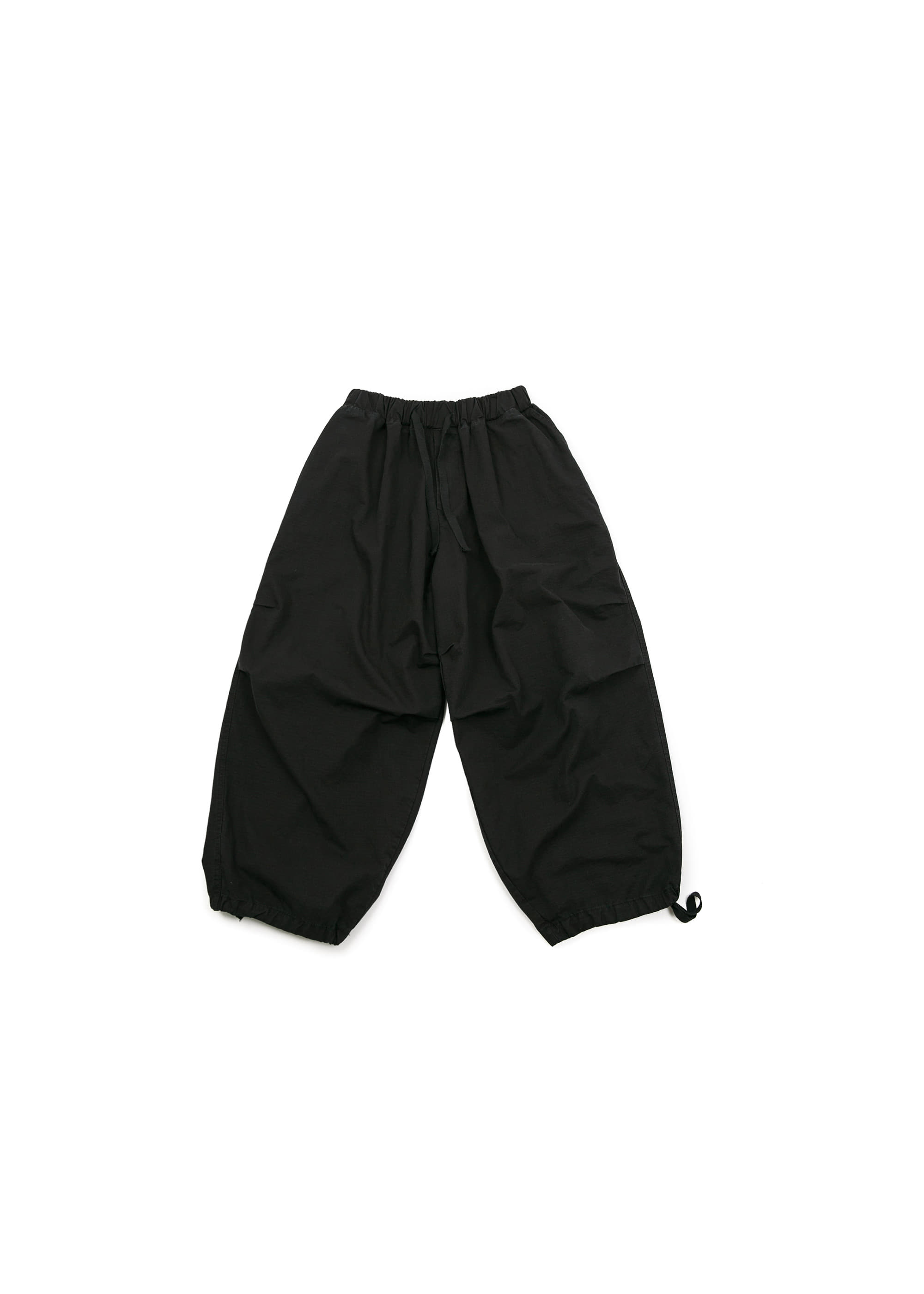 Rib Army Balloon Pants - Black [ RE ]