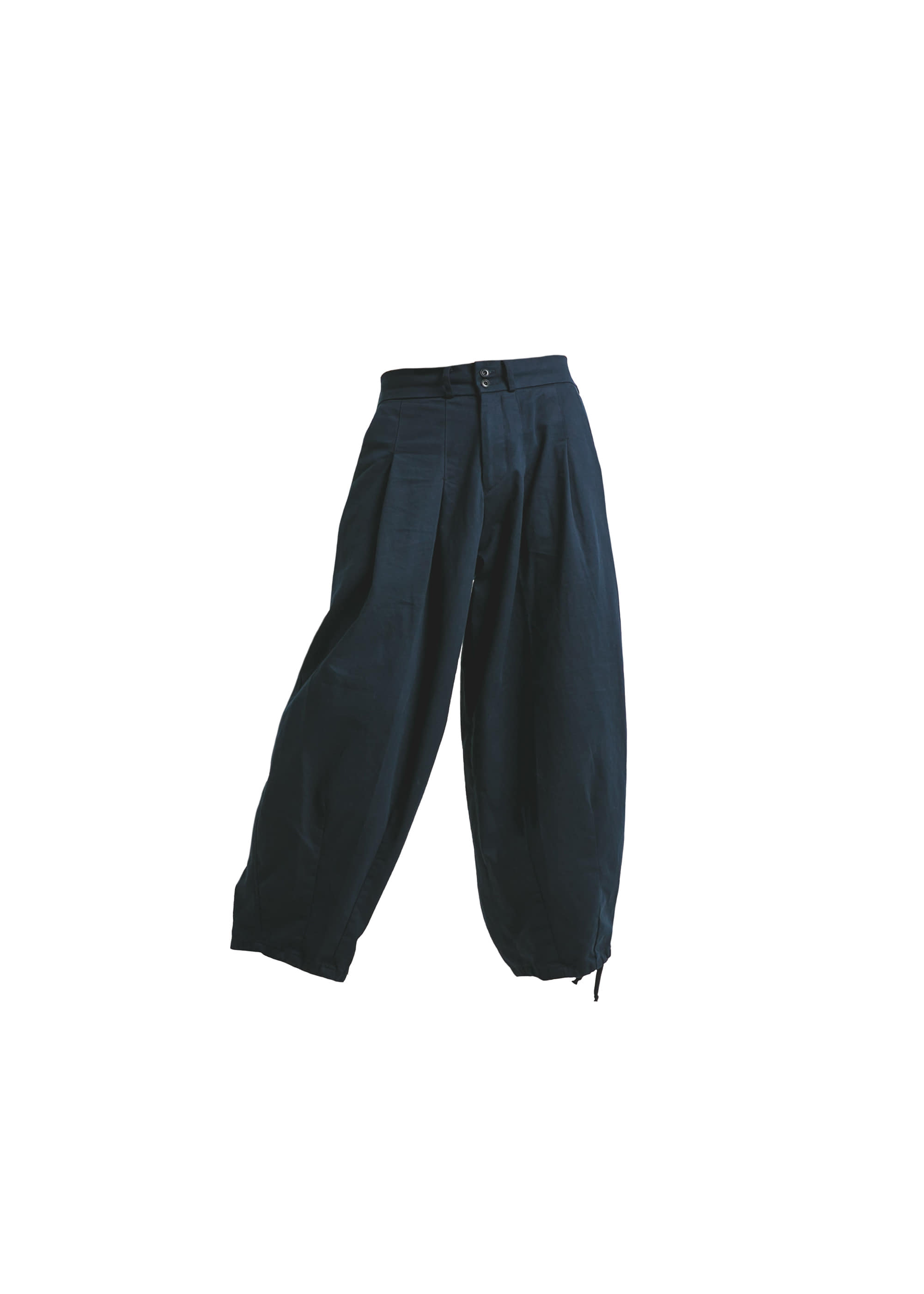 [AG] Cotton Easy Balloon Pants -Navy [Pre-Order]
