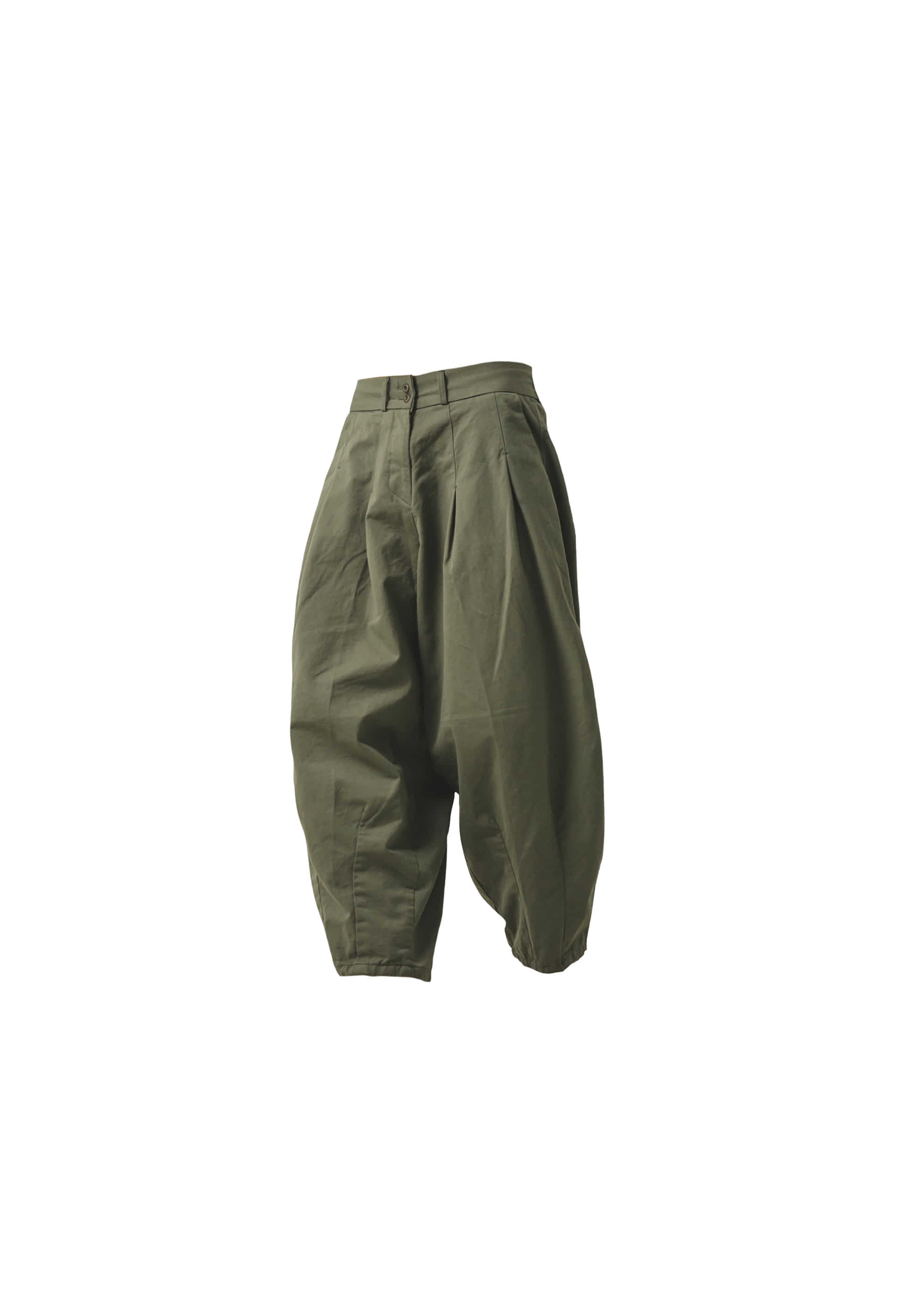 [AG] Cotton Easy Balloon Pants - Khaki [Pre-Order]