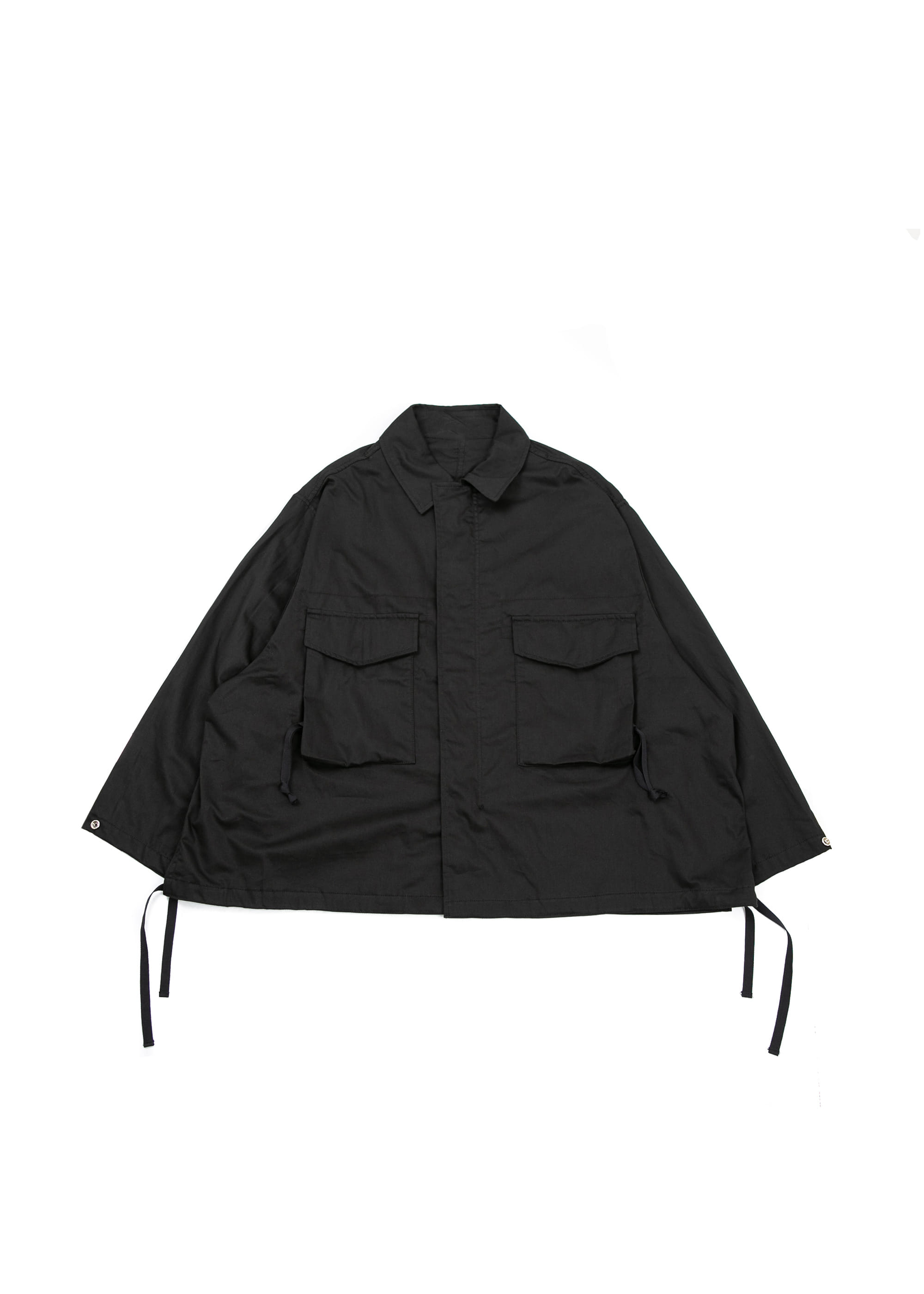 Trim Field Jacket - Black
