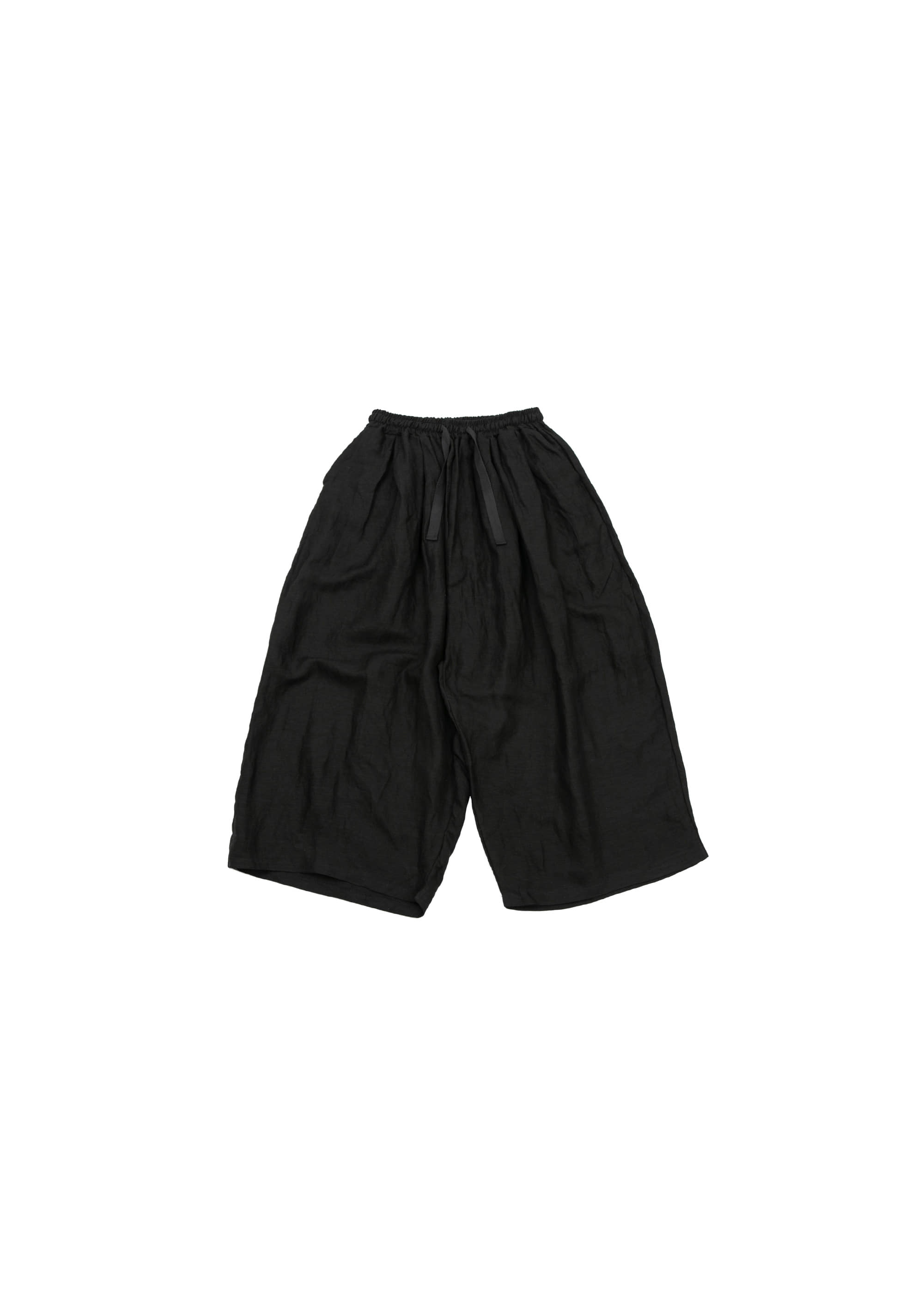 Linen Wide Pants - Black