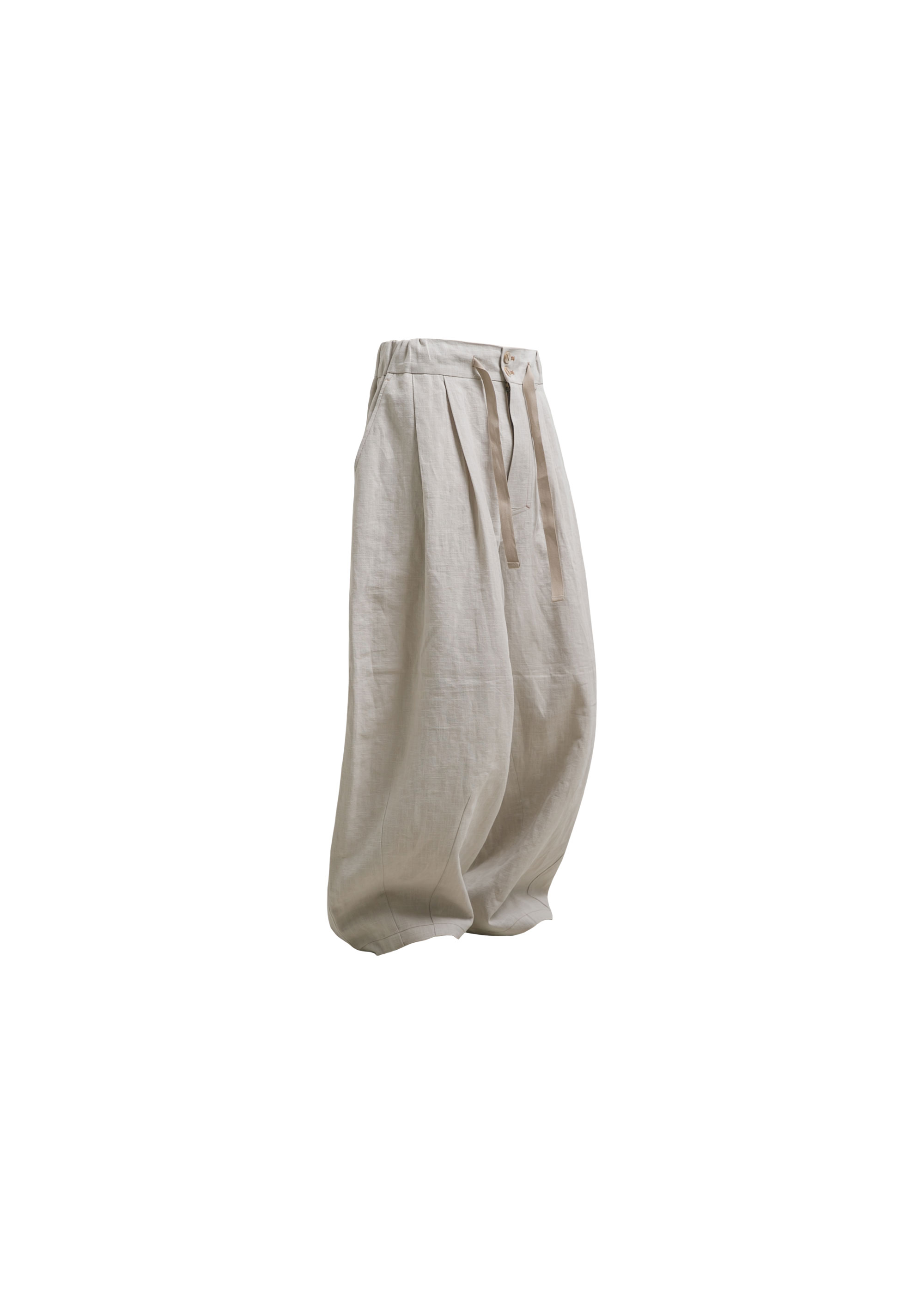 [AG] Linen Balloon pants - Ivory