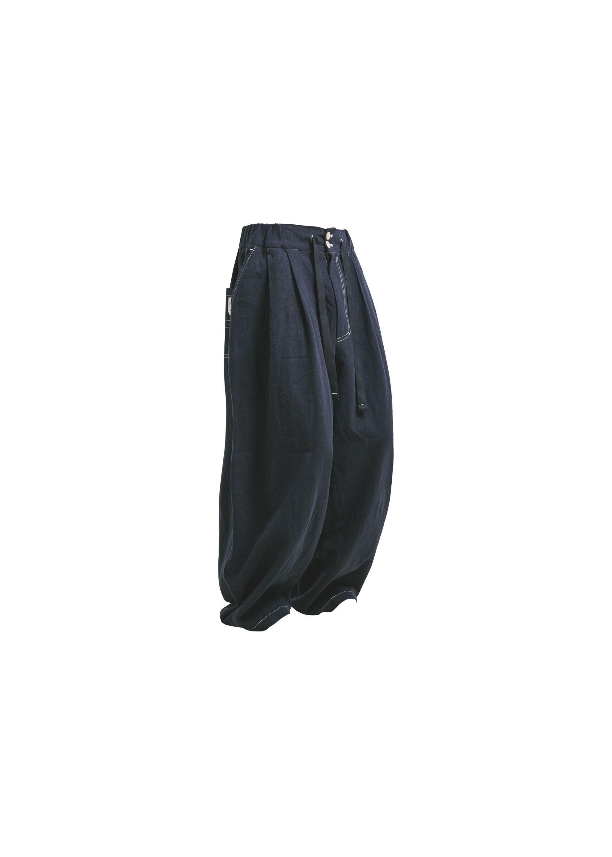 [AG] Linen Balloon pants - Navy