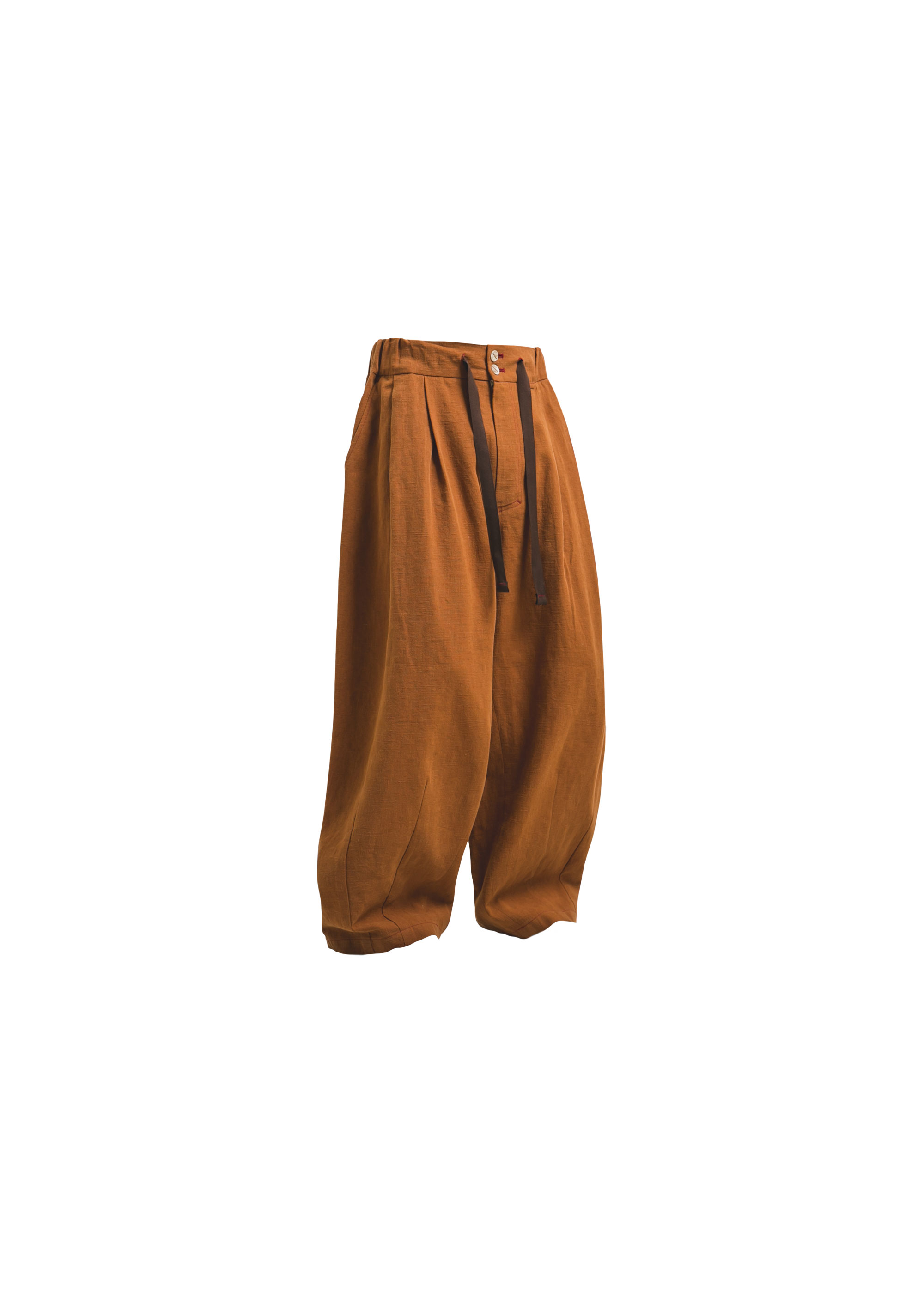 [AG] Linen Balloon pants - Brick