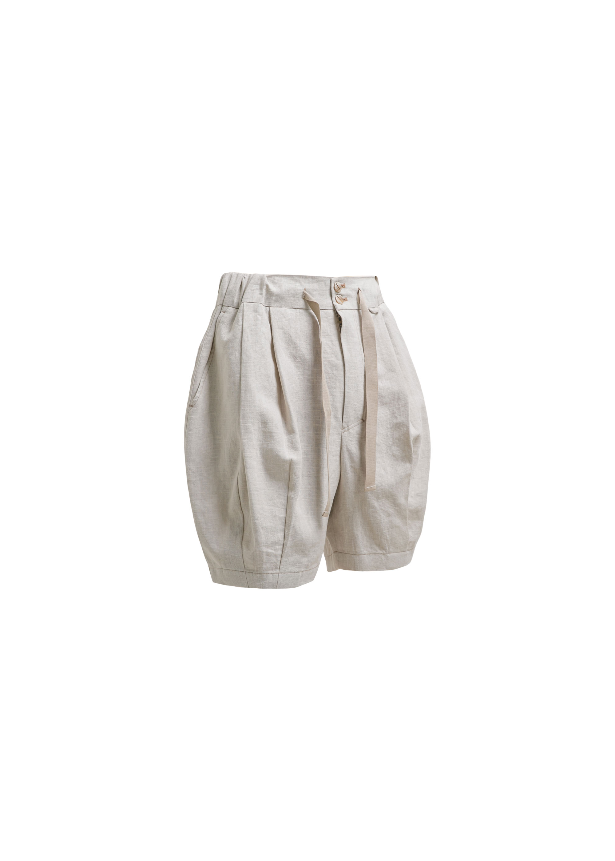 [AG] Linen Balloon Shorts - Ivory