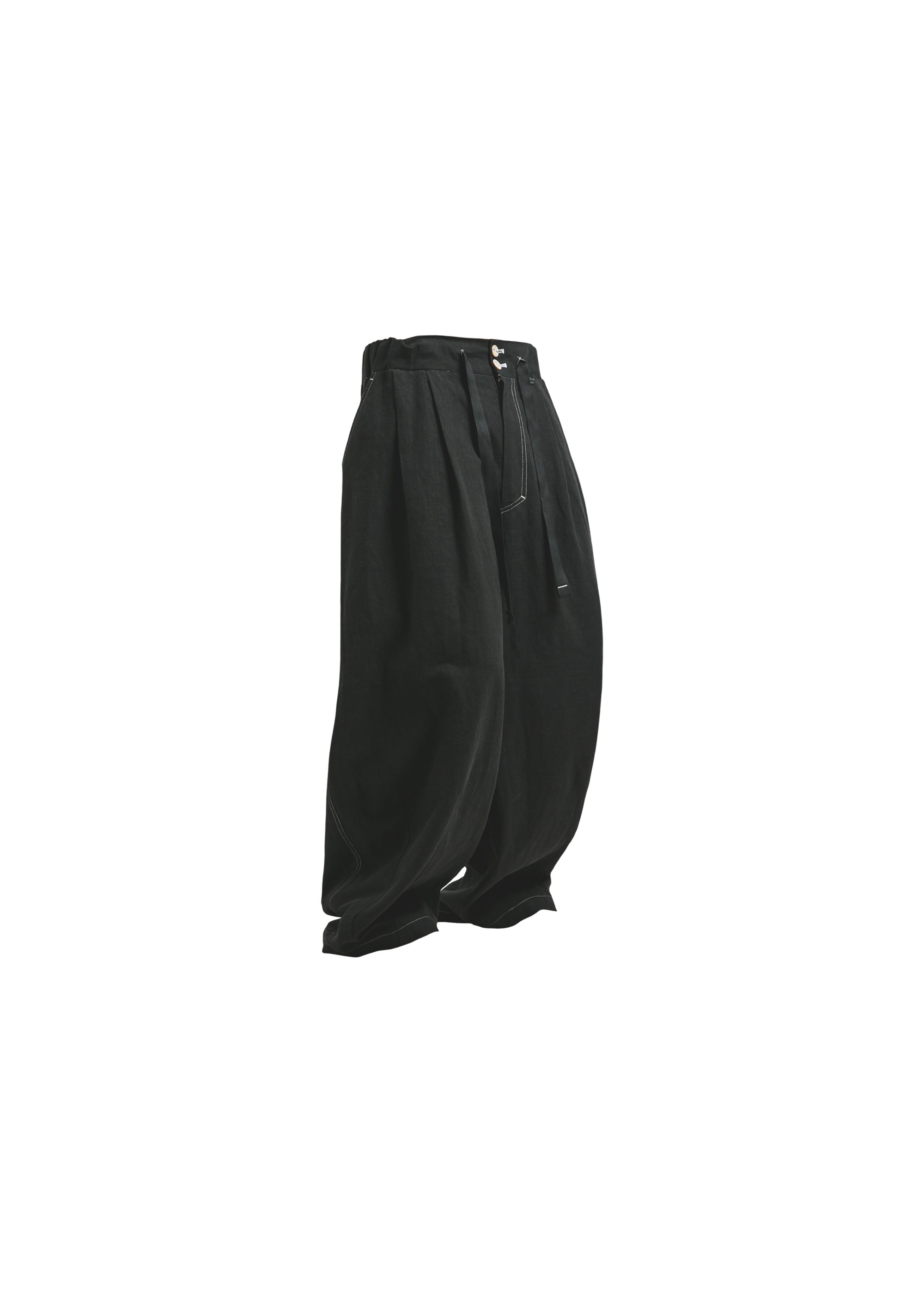 [AG] Linen Balloon pants - Black