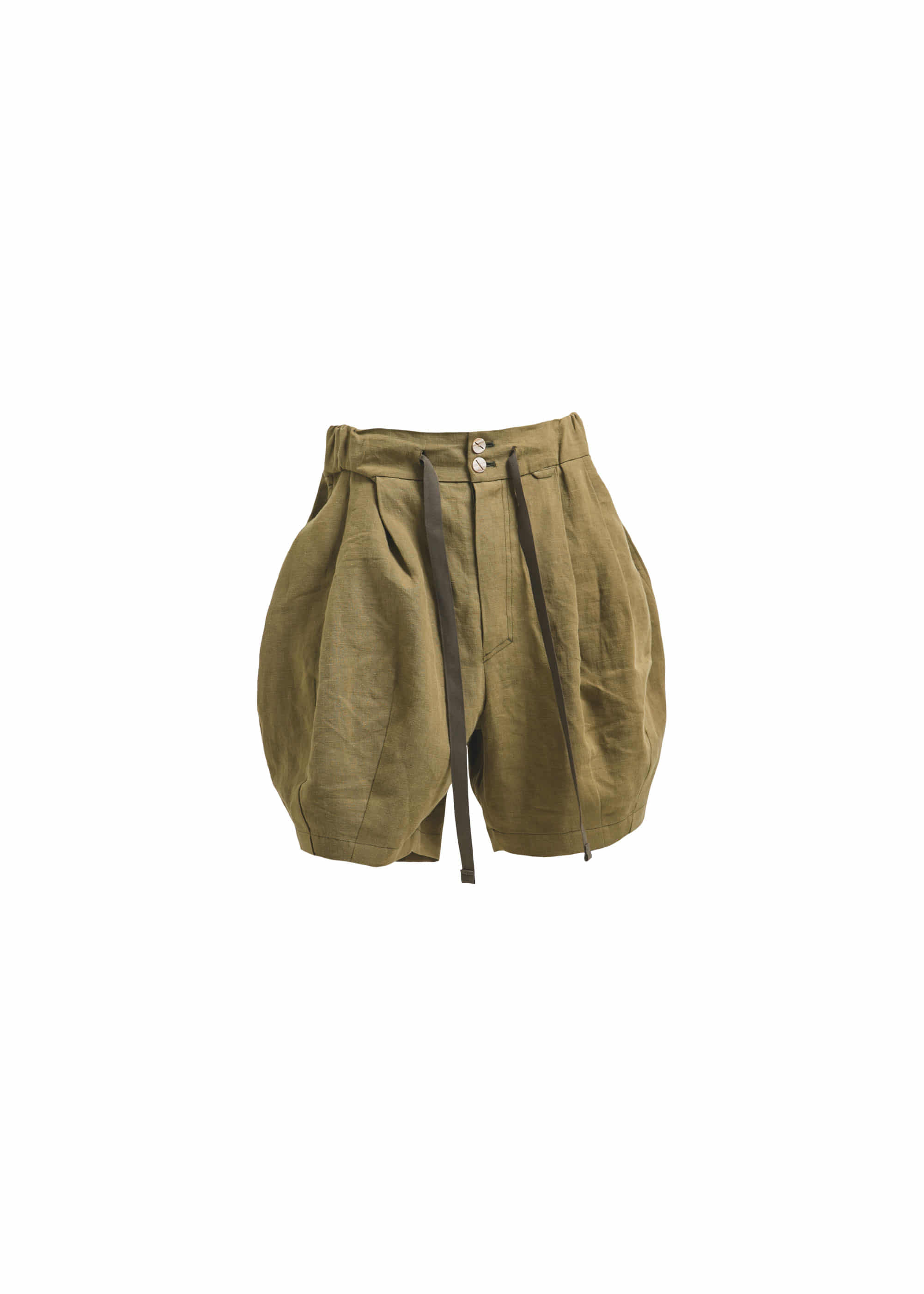 [AG] Linen Balloon Shorts - Khaki