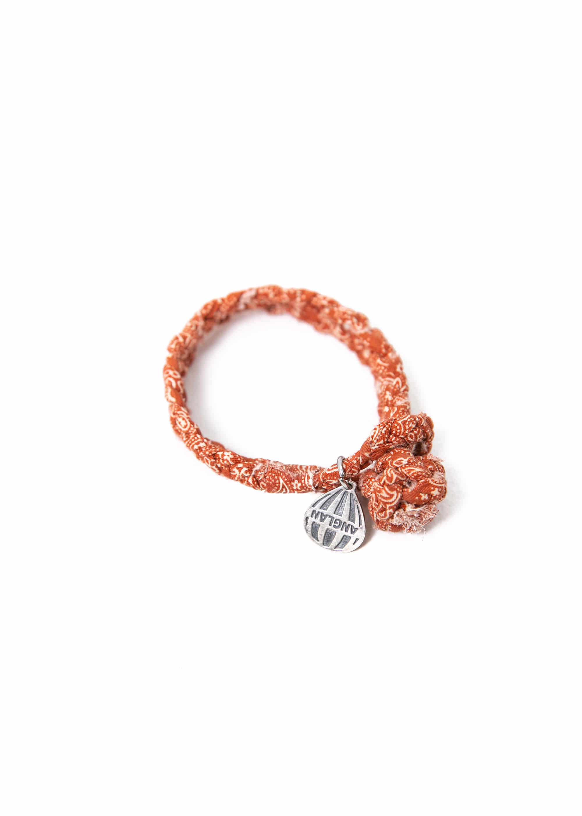 [AG] Paisley Weaving Pendant Bracelet - Orange