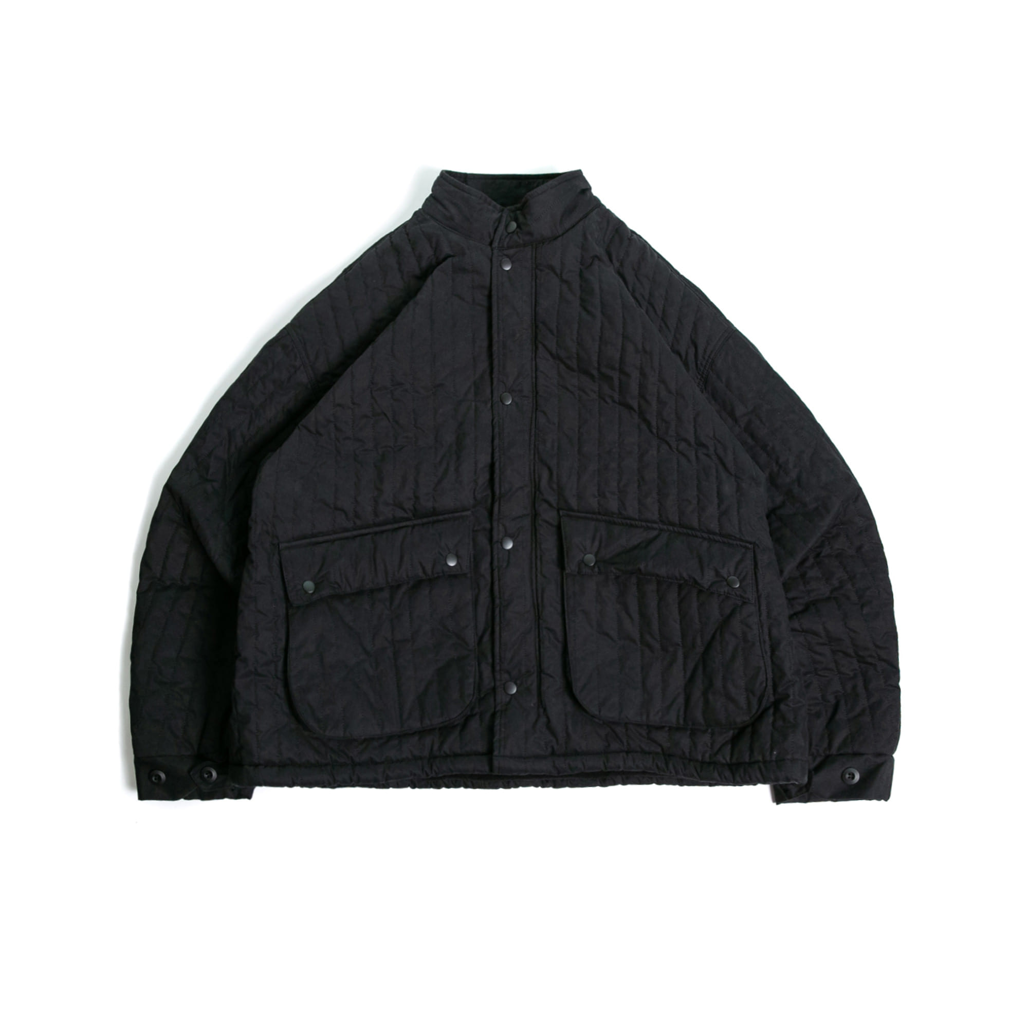 Two Pocket Over Quilting Jacket - Black