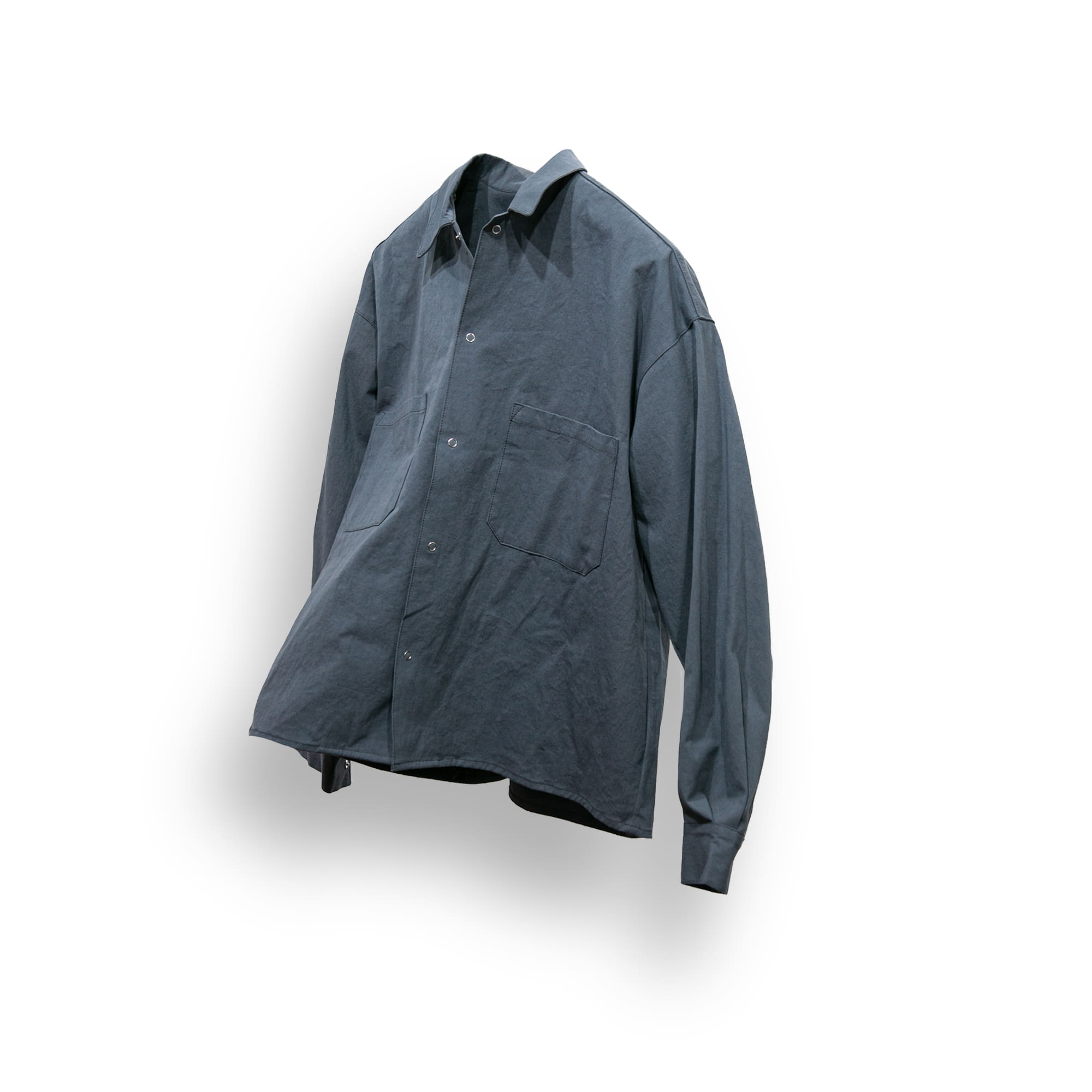 Natural Solid Over Shirt - Ash Blue